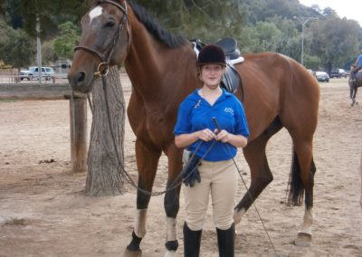 Emily and Nick the horse